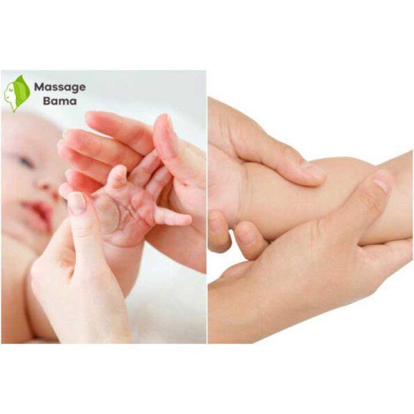 ماساژ دست نوزاد