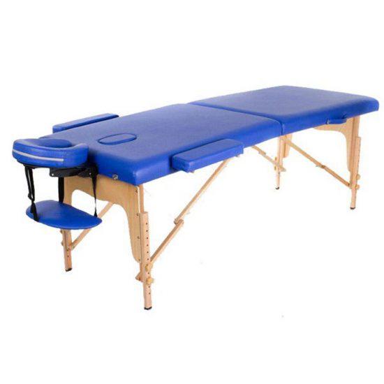تخت ماساژ تاشو پایه چوبی مدل WDG