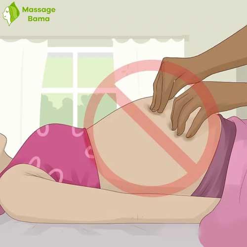 ماساژ شکم در حاملگی ممنوع