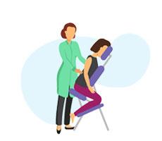 خدمات ماساژ روی صندلی
